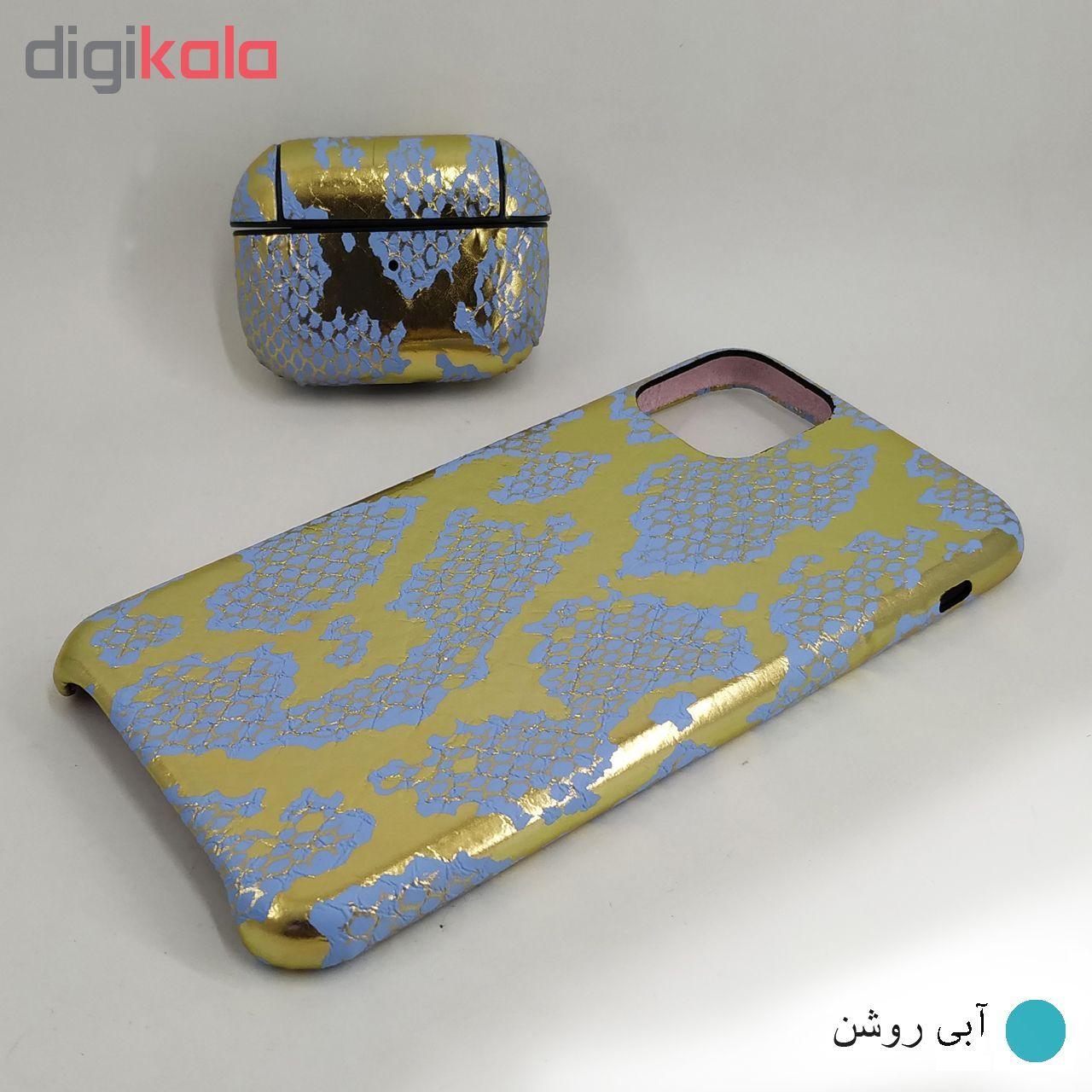 کاور ایت طرح پوست ماری کد 01 مناسب برای گوشی موبایل اپل Iphone 11 Pro Max به همراه کاور کیس اپل ایرپاد پرو