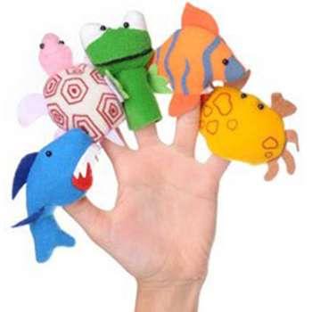 عروسک انگشتی شادی رویان مدل حیوانات دریایی بسته 5 عددی