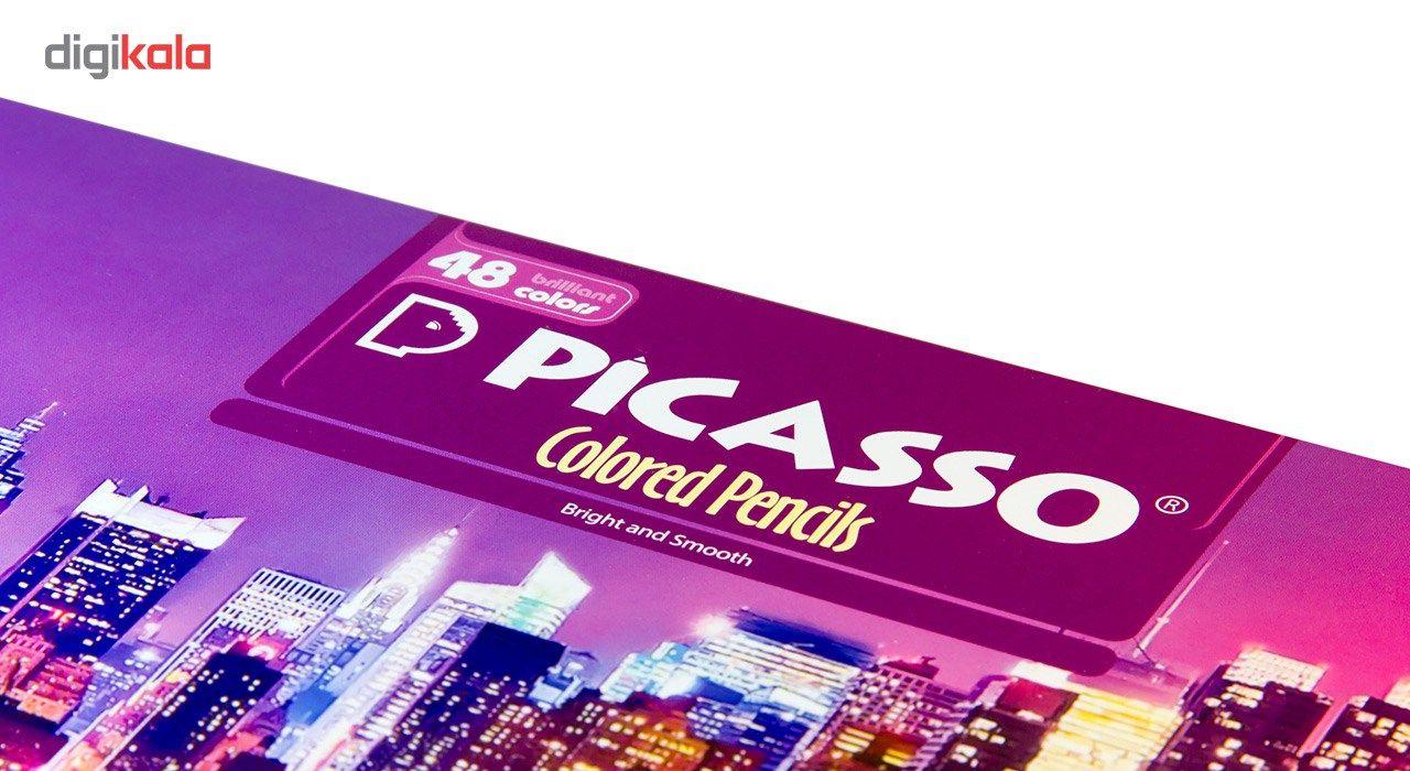 مداد رنگی 48 رنگ پیکاسو مدل Superb Writer طرح نیویورک main 1 5