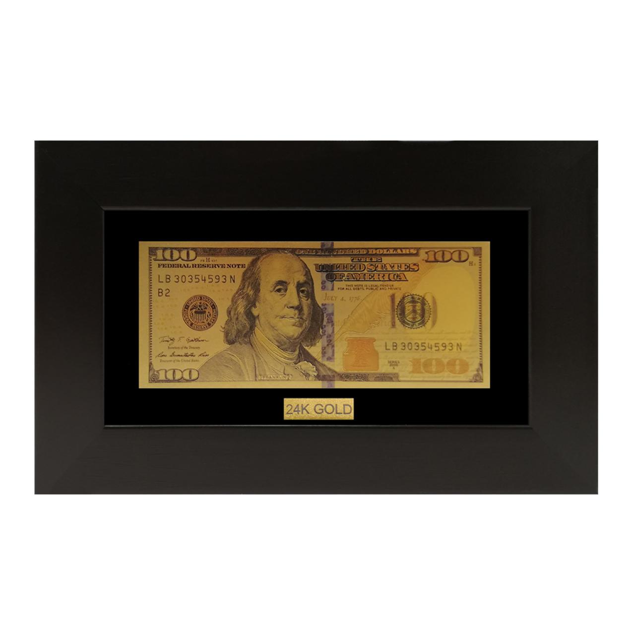 تابلو طلاکوب مارک گلد طرح دلار کد TF010
