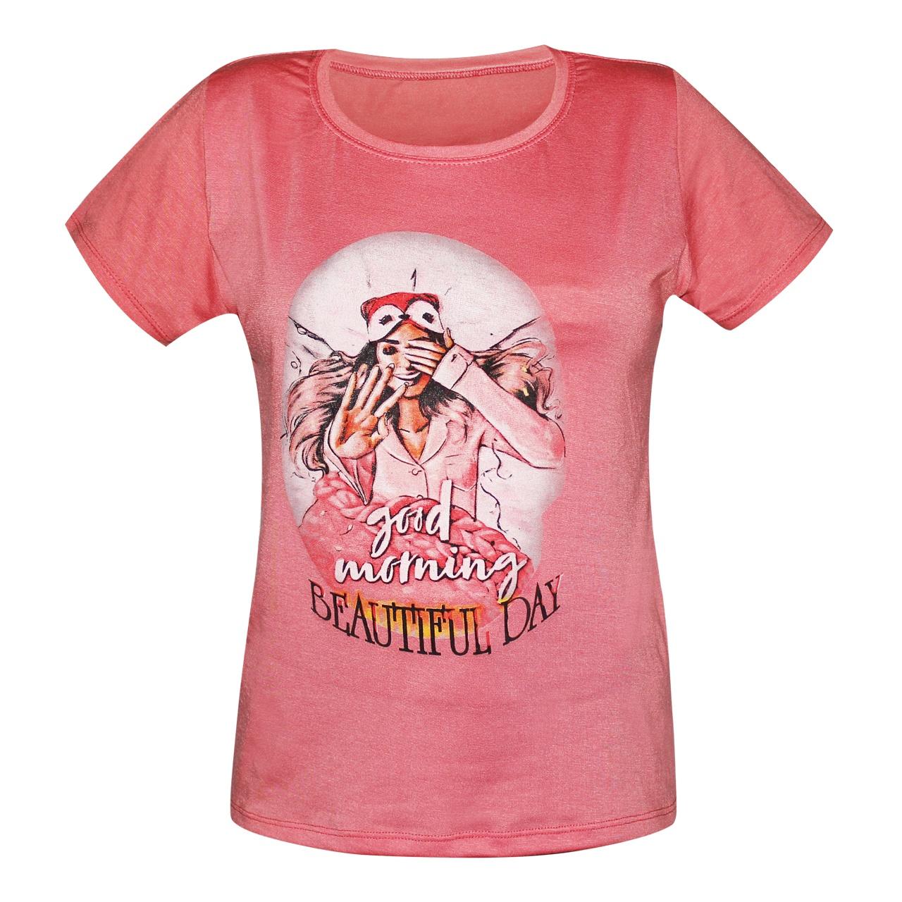 تصویر تی شرت زنانه مدل Beautiful Day کد 1076-001