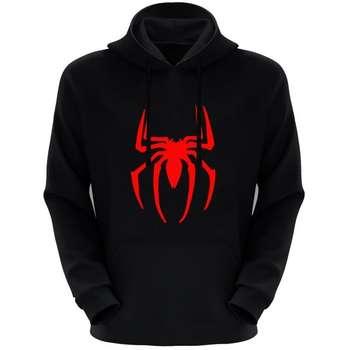 هودی مردانه طرح عنکبوت کد 14 رنگ مشکی