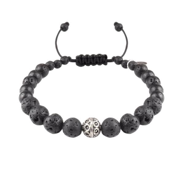 دستبند نقره مردانه درگون مدل MA10