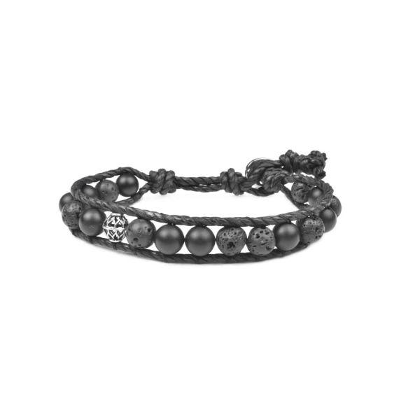دستبند نقره مردانه درگون مدل WS16