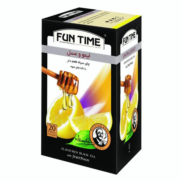 چای سیاه کیسه ای لیمو و عسل فان تایم بسته 20 عددی