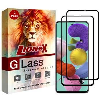 محافظ صفحه نمایش 5D لایونکس مدل USS مناسب برای گوشی موبایل سامسونگ Galaxy A51 بسته دو عددی