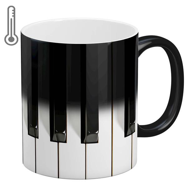 ماگ حرارتی آبنبات رنگی طرح پیانو کد ARM0510