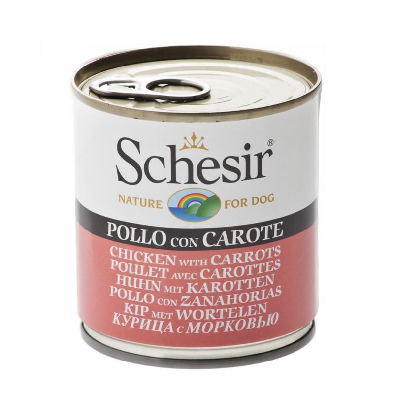 کنسرو غذای سگ شسیر مدل مرغ و هویج وزن 285 گرم