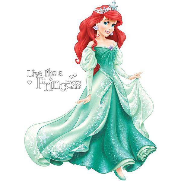 استیکر رومیت مدل Disney Princess Arial Giant Wall Decal