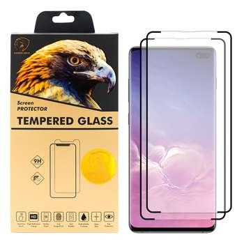 محافظ صفحه نمایش گلدن ایگل مدل LUX-X2 مناسب برای گوشی موبایل سامسونگ Galaxy S10 Plus بسته دو عددی