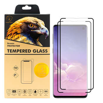 محافظ صفحه نمایش گلدن ایگل مدل LUX-X2 مناسب برای گوشی موبایل سامسونگ Galaxy S10 بسته دو عددی