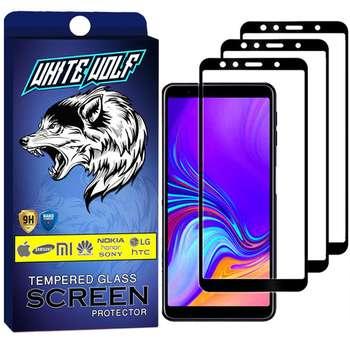 محافظ صفحه نمایش وایت ولف مدل WGF مناسب برای گوشی موبایل سامسونگ Galaxy A7 2018 بسته 3 عددی