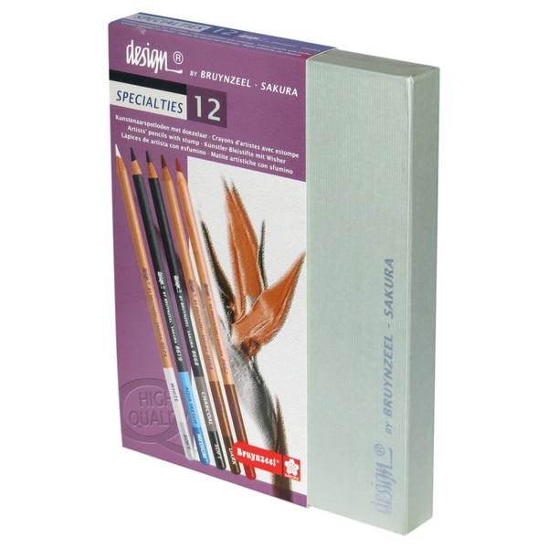 مداد کنته 12 رنگ برونزیل مدل SPECIALTIES کد H12