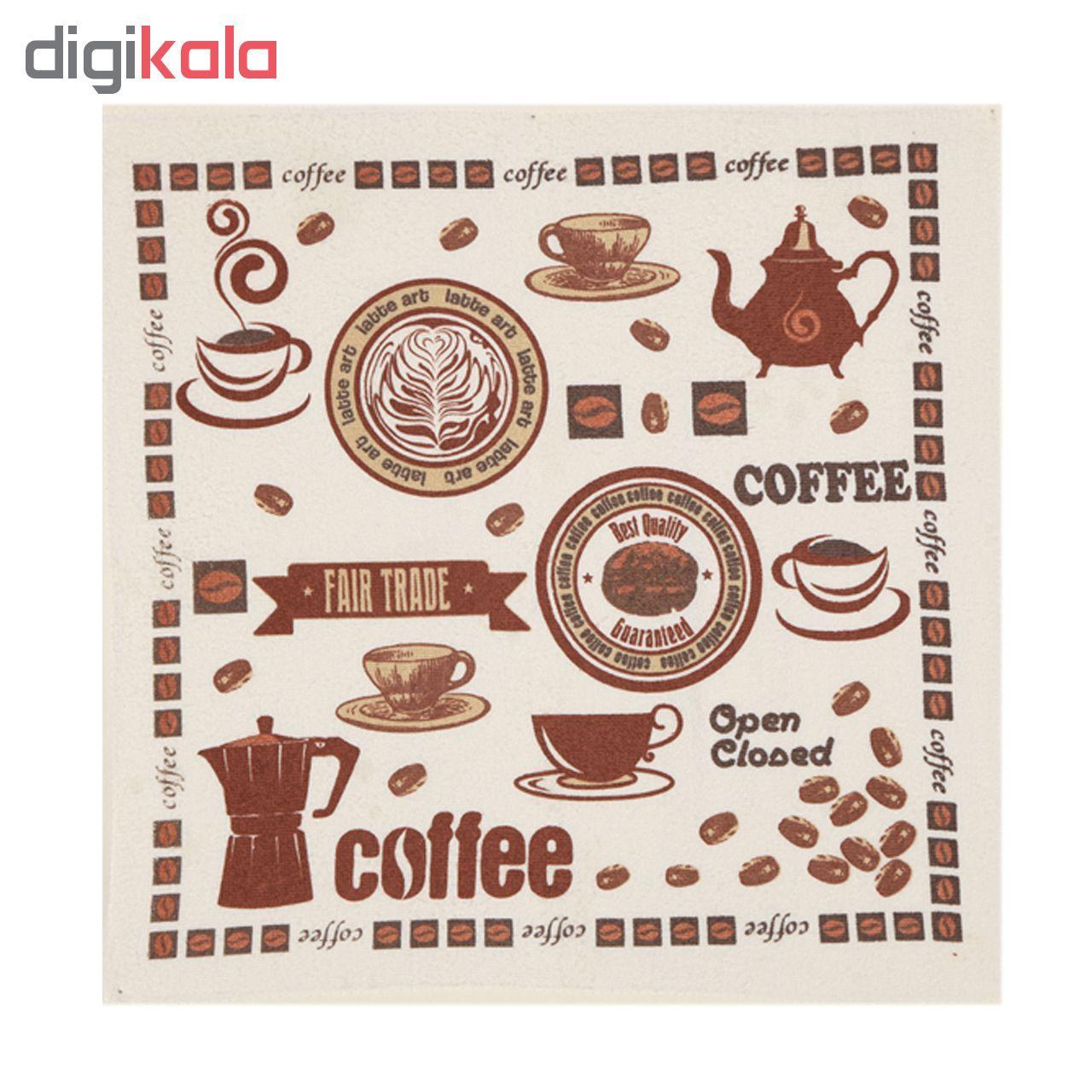 حوله آشپزخانه آکیپک مدل Coffee سایز 50x50 سانتیمتر main 1 1