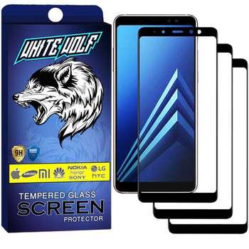 محافظ صفحه نمایش وایت ولف مدل WGF مناسب برای گوشی موبایل سامسونگ Galaxy A8 Plus 2018 بسته 3 عددی