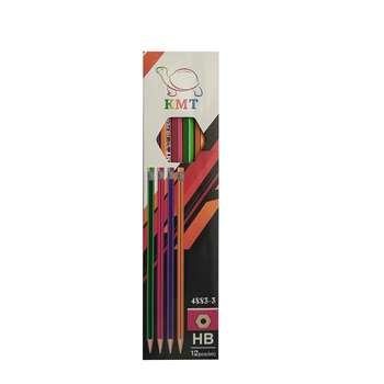 مداد مشکی کی ام تی کد ۳-۴۸۸۳ بسته ۱۲ عددی