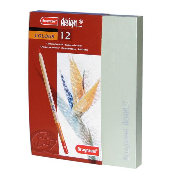 مداد رنگی 12 رنگ برونزیل مدل DSn12