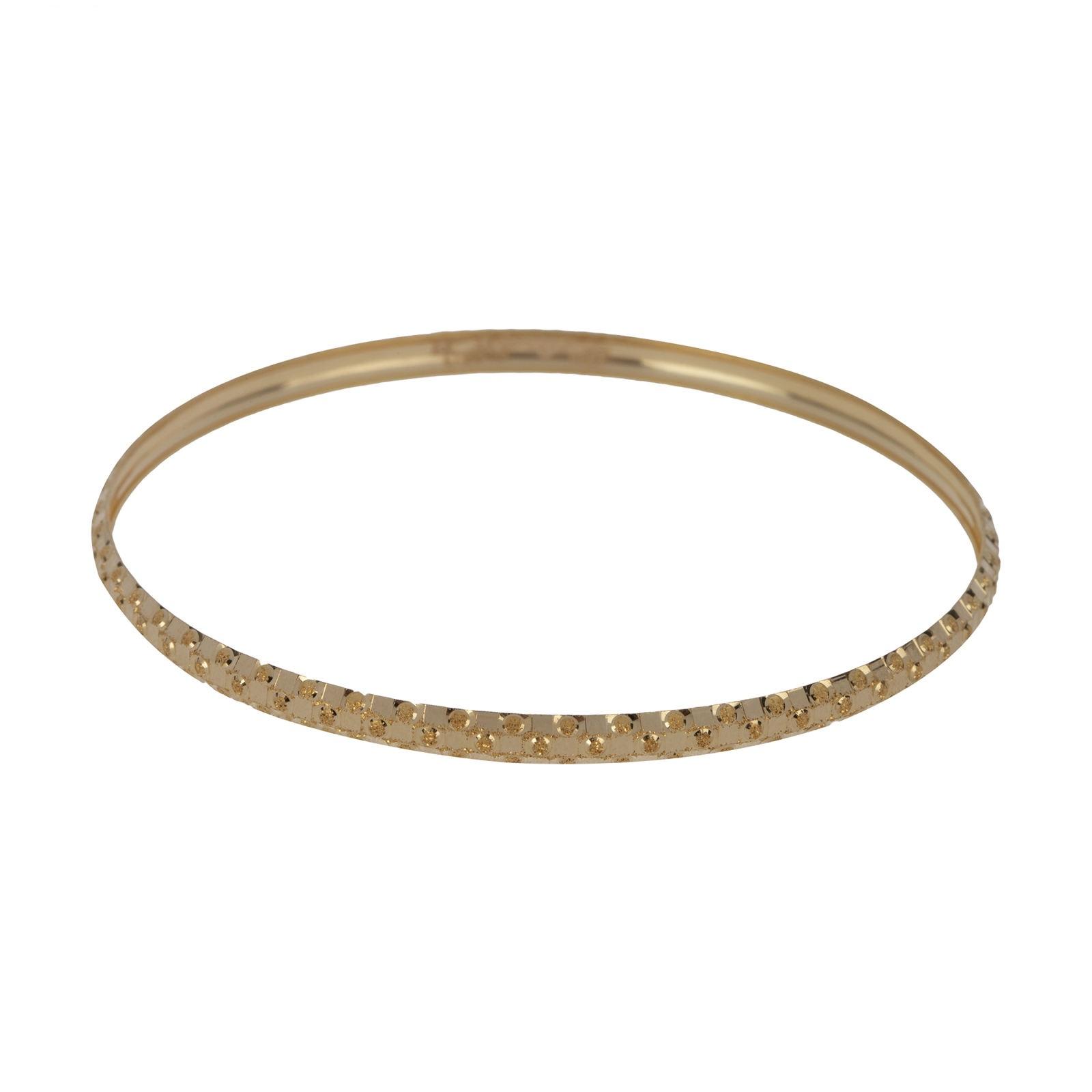 النگو طلا 18 عیار زنانه گالری یارطلا کد AL43-G-4