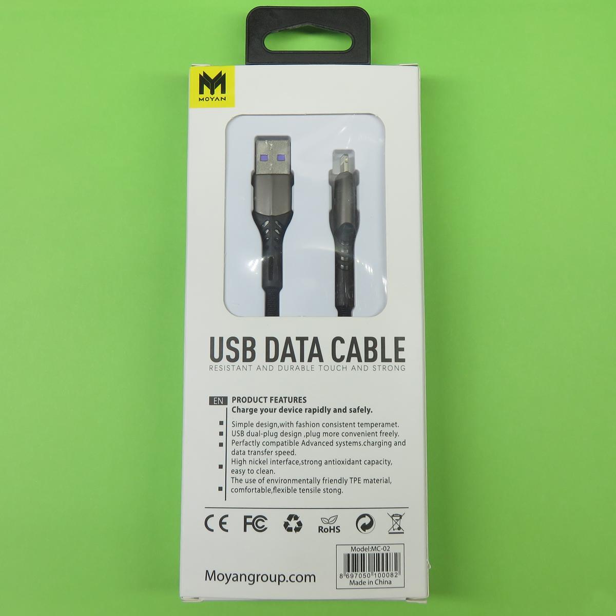 کابل تبدیل USB به لایتنینگ مویان مدل MC-02 طول 1 متر
