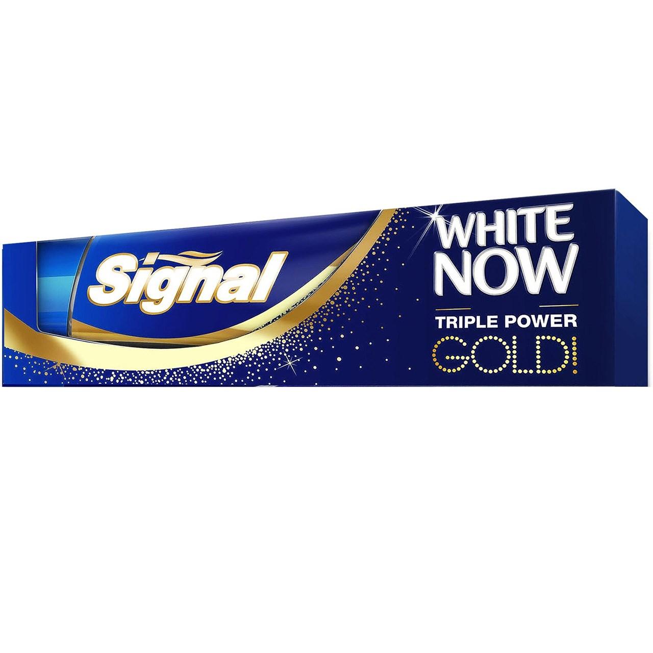 قیمت خمیر دندان سیگنال سری White Now مدل Gold تیوب 50 میلی لیتر