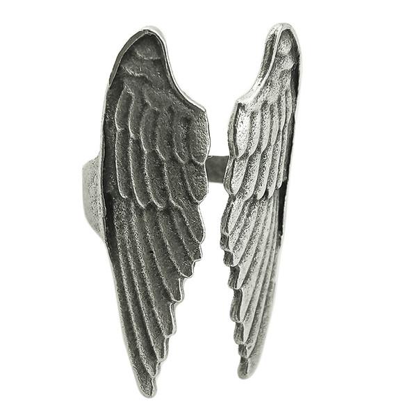 انگشتر مردانه طرح بال فرشته کد 2