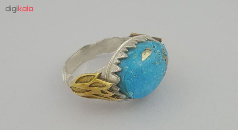 انگشتر نقره زنانه بلو استون کد 1043