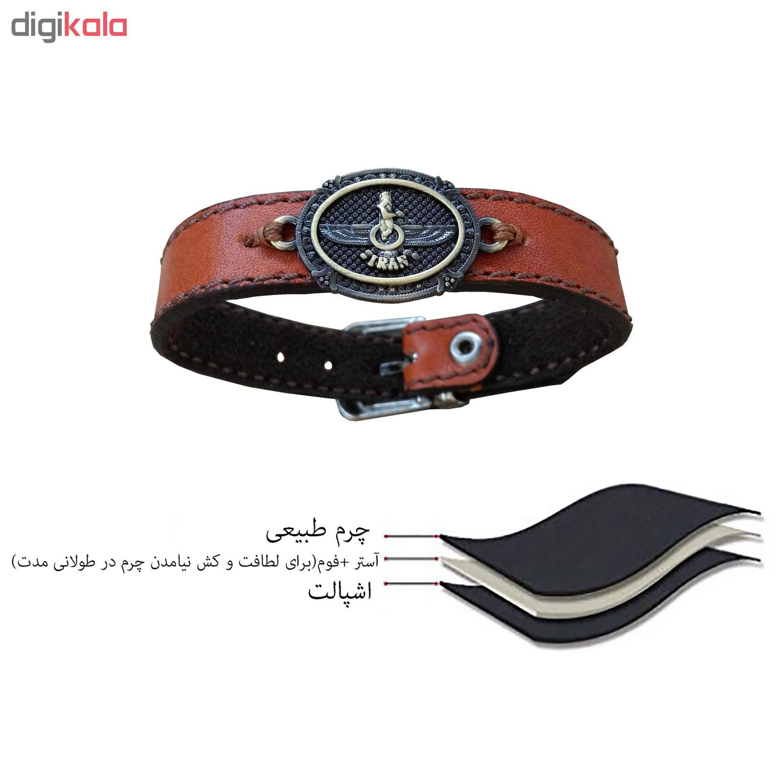دستبند چرم وارک مدل پرهام کد rb38 main 1 27