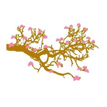 استیکر دیواری والتت طرح درخت طلایی