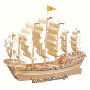 پازل چوبی سه بعدی رایا مدل کشتی بادبانی
