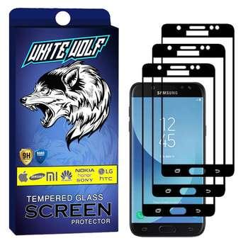 محافظ صفحه نمایش وایت ولف مدل WGF مناسب برای گوشی موبایل سامسونگ  Galaxy J5 Pro  بسته 3 عددی