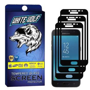 محافظ صفحه نمایش وایت ولف مدل WGF مناسب برای گوشی موبایل سامسونگ  Galaxy J2 Pro 2018  بسته 3 عددی