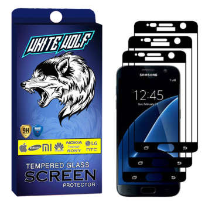 محافظ صفحه نمایش وایت ولف مدل WGF مناسب برای گوشی موبایل سامسونگ Galaxy S7 بسته 3 عددی