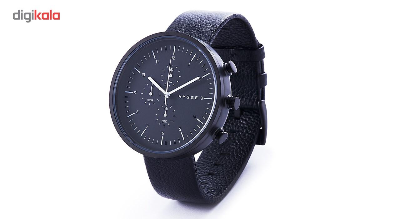 ساعت مچی عقربه ای مردانه هیگه مدل Horizon-All Black