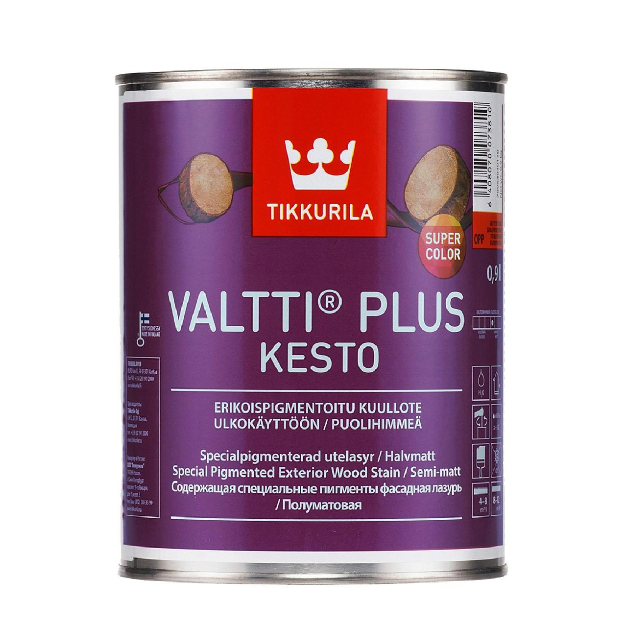 رنگ نیمه شفاف تیکوریلا مدلVALTTI PLUS KESTO 5055 حجم 1 لیتر