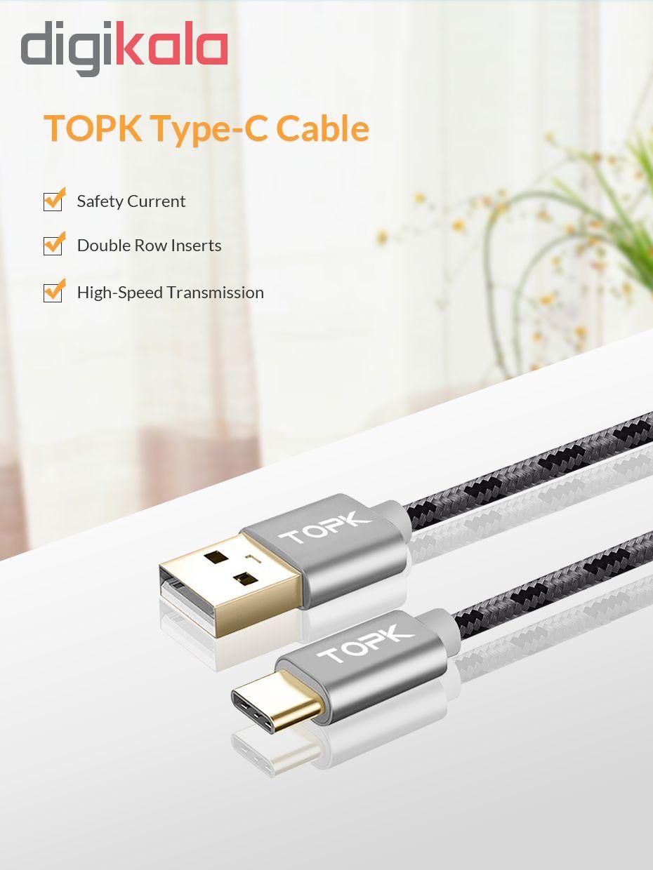 کابل تبدیل USB به USB-C تپک مدل AN09 طول 1 متر  main 1 5