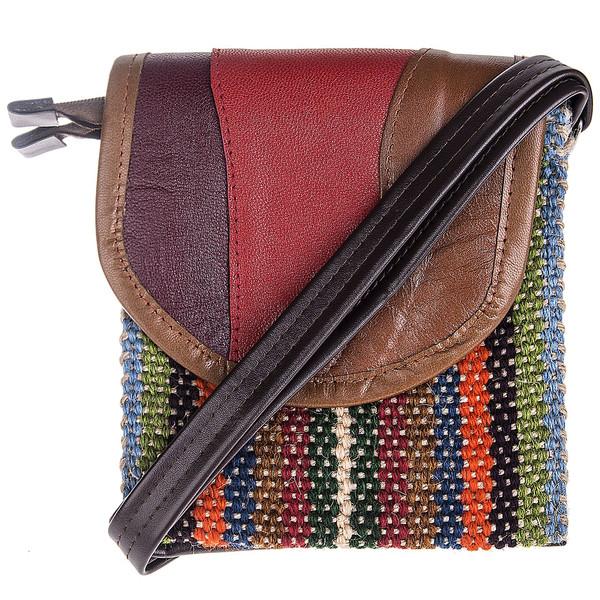 کیف کنف و چرم هنرکده هیرا مدل سه رنگ