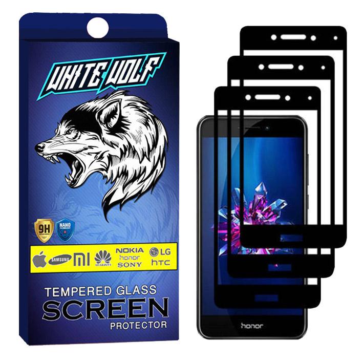 محافظ صفحه نمایش وایت ولف مدل WGF مناسب برای گوشی موبایل هوآوی P8 Lite  بسته 3 عددی