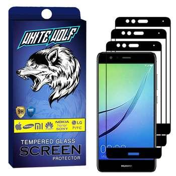 محافظ صفحه نمایش وایت ولف مدل WGF مناسب برای گوشی موبایل هوآوی P10 Lite   بسته 3 عددی