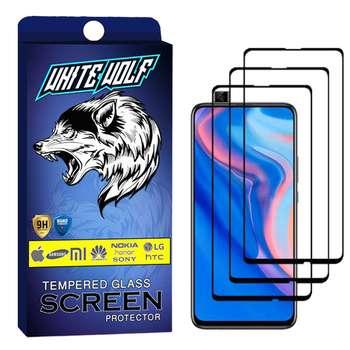 محافظ صفحه نمایش وایت ولف مدل WGF مناسب برای گوشی موبایل هوآوی Y9 Prime 2019   بسته 3 عددی