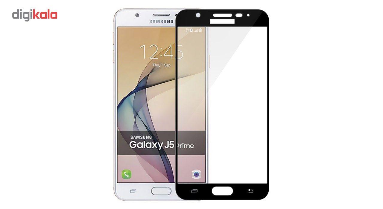 محافظ صفحه نمایش تمپرد مدل فول چسب مناسب برای گوشی موبایل سامسونگ Galaxy J5 Prime main 1 1