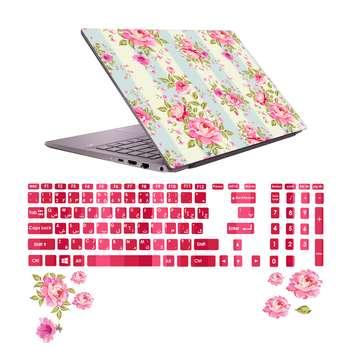 استیکر لپ تاپ صالسو آرت مدل 5003 hk به همراه برچسب حروف فارسی کیبورد