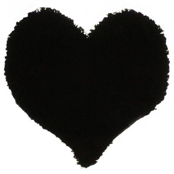 پادری فرش بهتافت طرح قلبی  P26 پرز بلند سایز 50x50