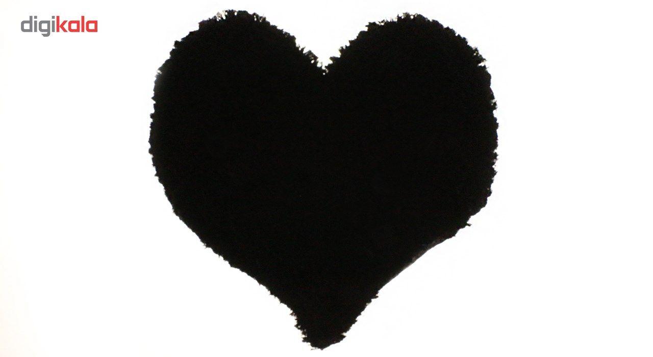 پادری فرش بهتافت طرح قلبی  P26 پرز بلند سایز 50x50 main 1 1