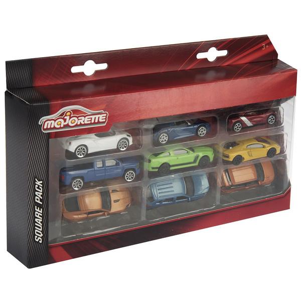 ماشین بازی ماژورت مدل Square Cars 0799 WBR بسته ی 9 عددی
