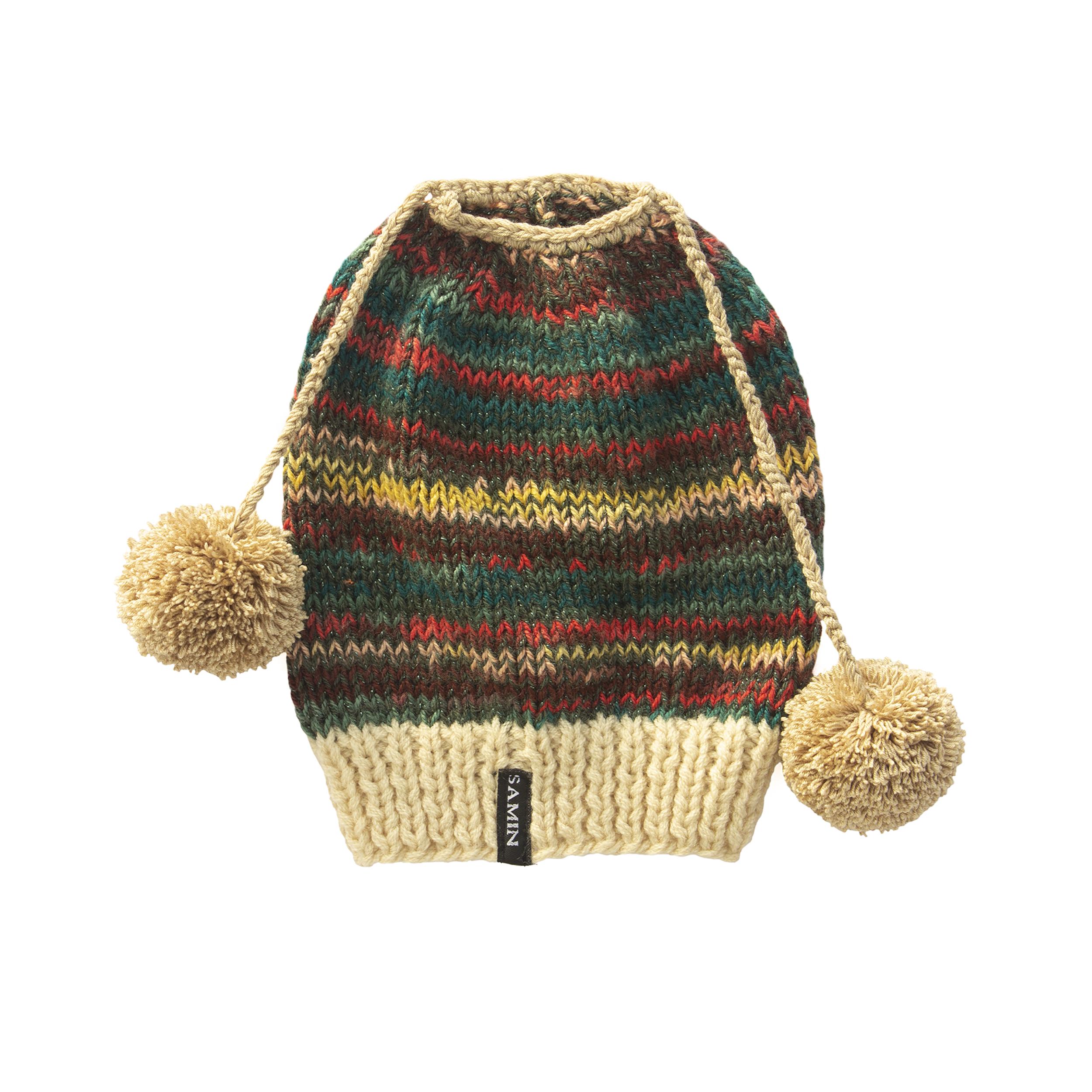 کلاه بافتنی دخترانه ثمین کد 204
