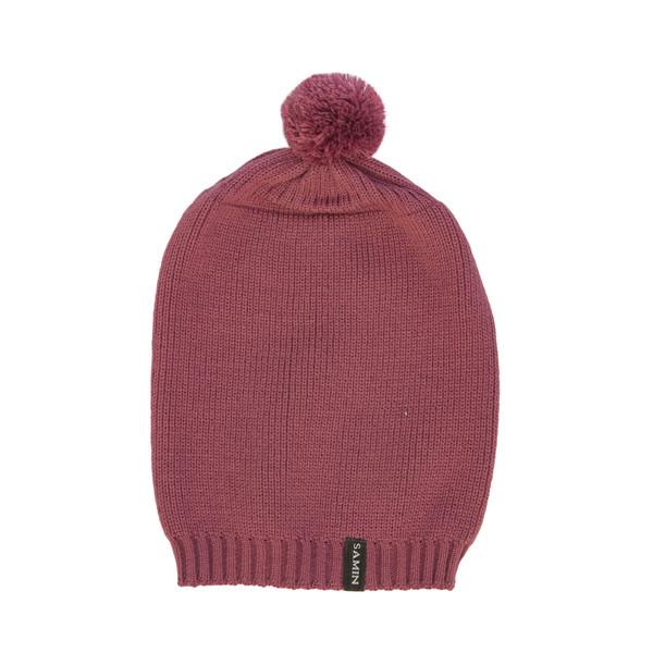 کلاه بافتنی ثمین مدل Dellenia رنگ بنفش