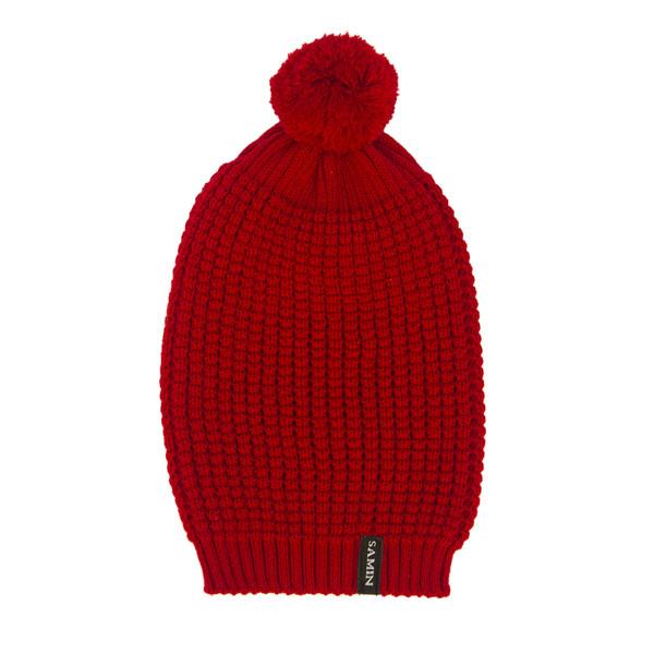 کلاه بافتنی ثمین مدل Athena رنگ قرمز