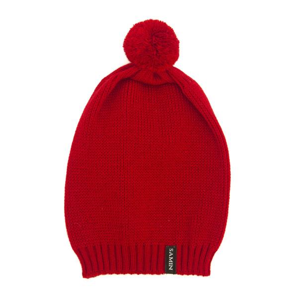 کلاه بافتنی ثمین مدل Dellenia رنگ قرمز