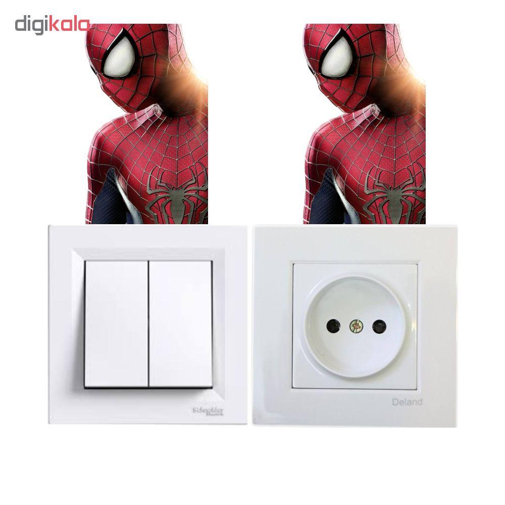 استیکر فراگراف کلید و پریز FG طرح شخصیتهای دیزنی مرد عنکبوتی کد disney109 بسته دو عددی
