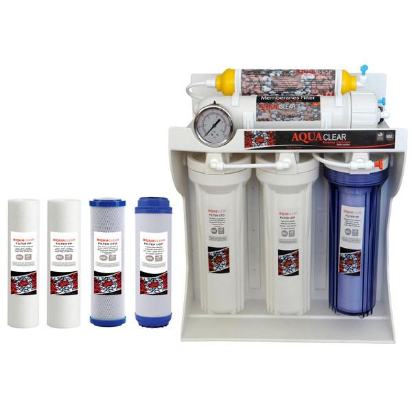 دستگاه تصفیه کننده آب خانگی آکوآ کلر مدل RO-C160 به همراه فیلتر بسته 4 عددی